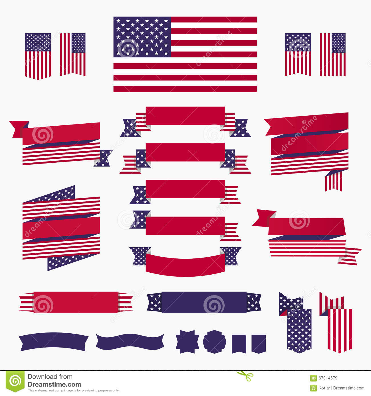 Patriotic Red White Blue Banners Vector Illustration ... - photo#27