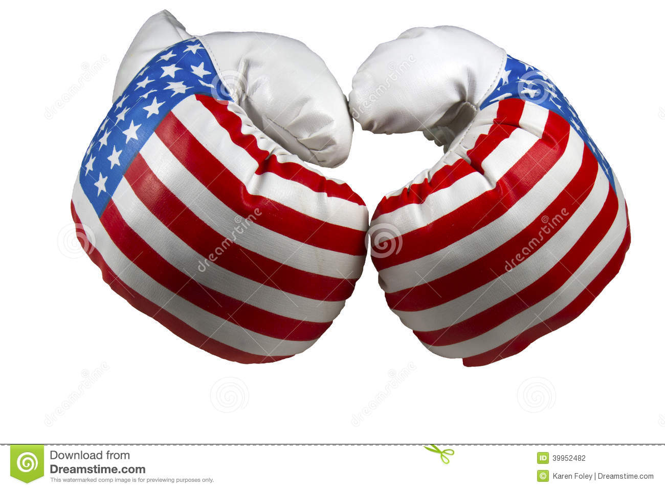 Red White And Blue Boxing Gloves Stock Photo - Image: 39952482