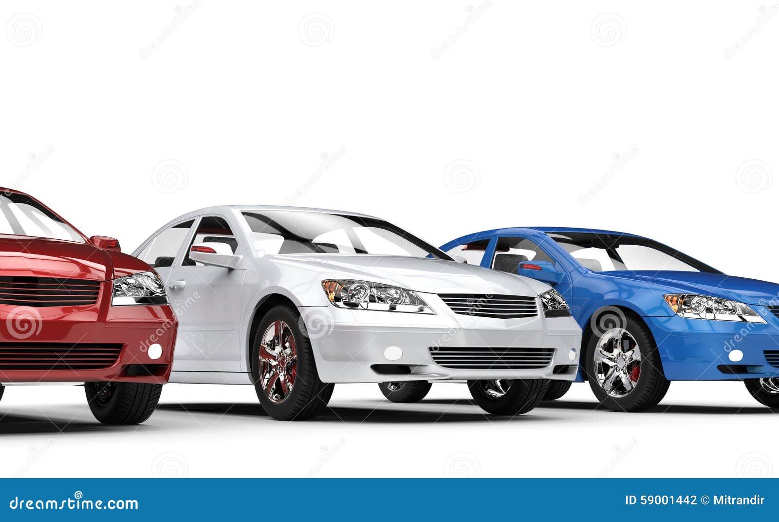 red white and blue cars stock illustration image of motor 59001442. Black Bedroom Furniture Sets. Home Design Ideas