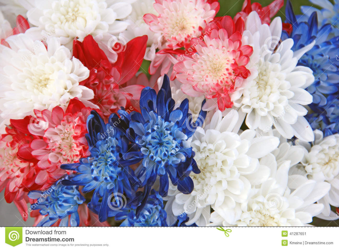Red White And Blue Flower Bouquet Image collections - Flower ...