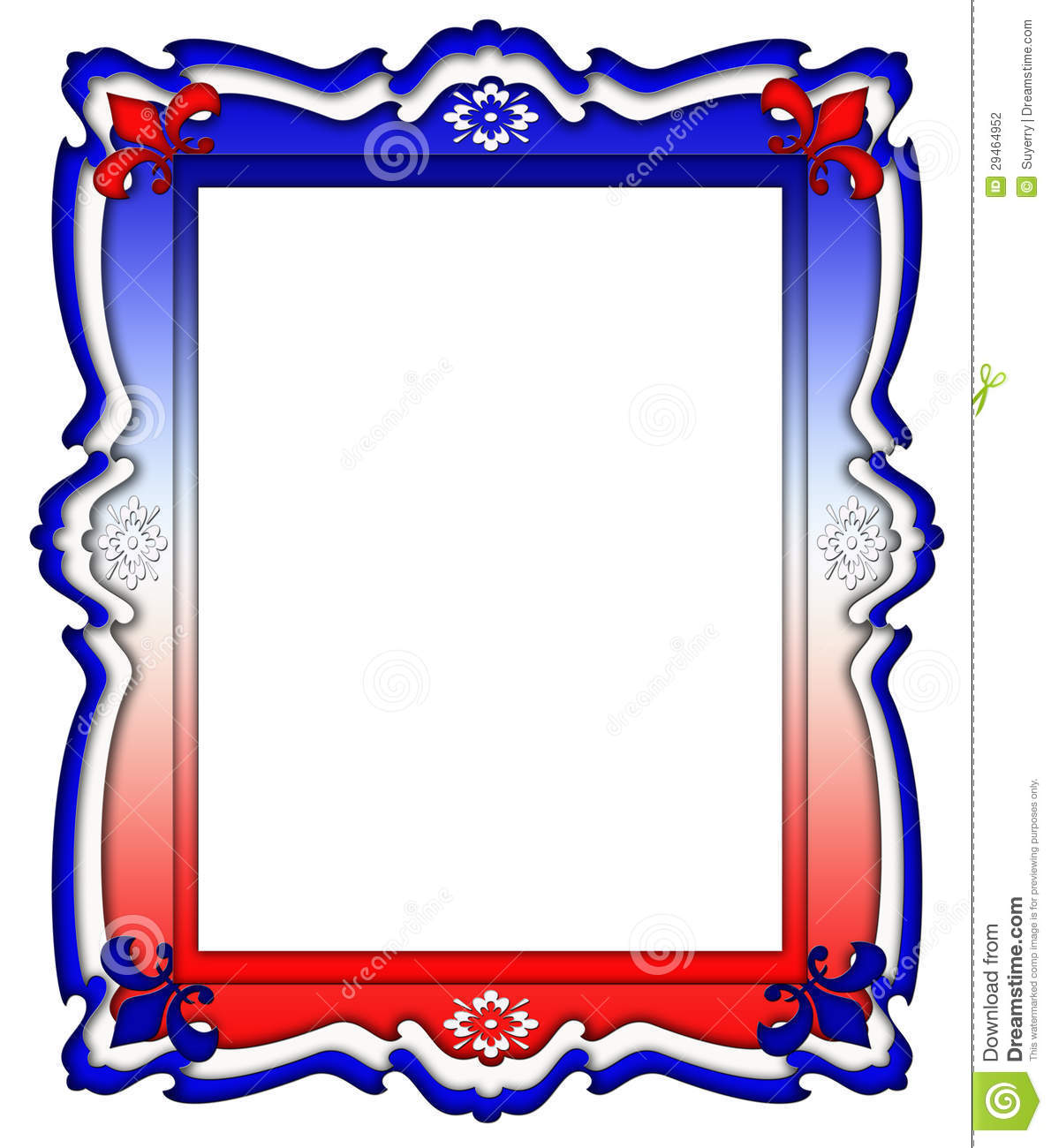 Red White And Blue Frame Border Stock Photography