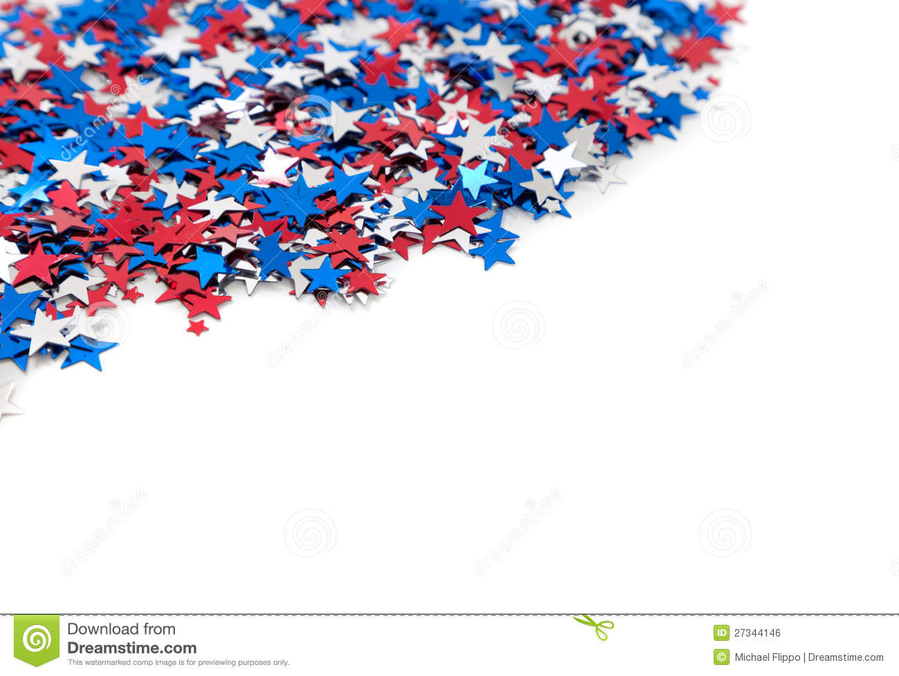 Red White And Blue Star Shaped Confetti On White Stock ... - photo#49