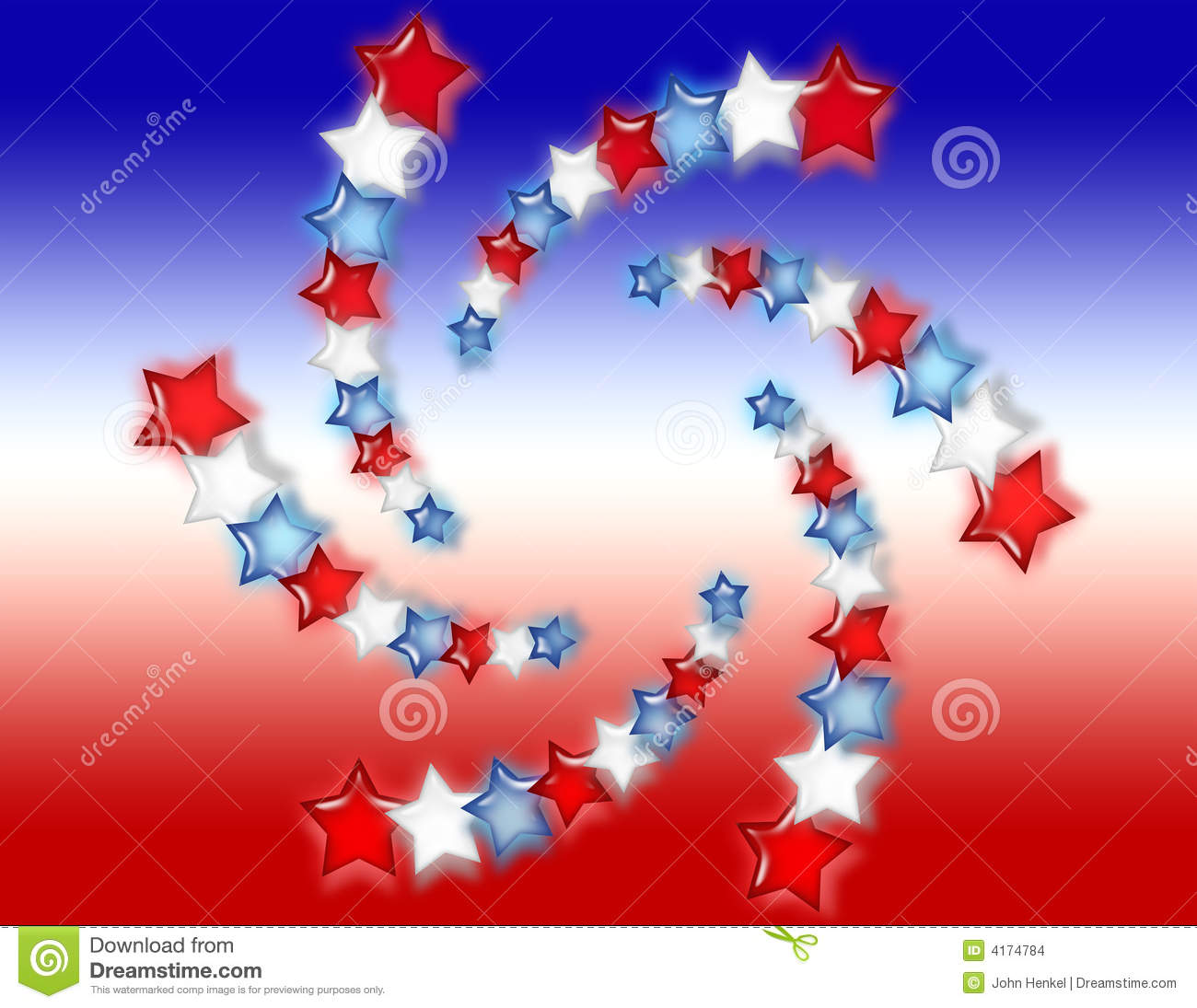 Red, White And Blue Stars Background Stock Illustration ... - photo#47