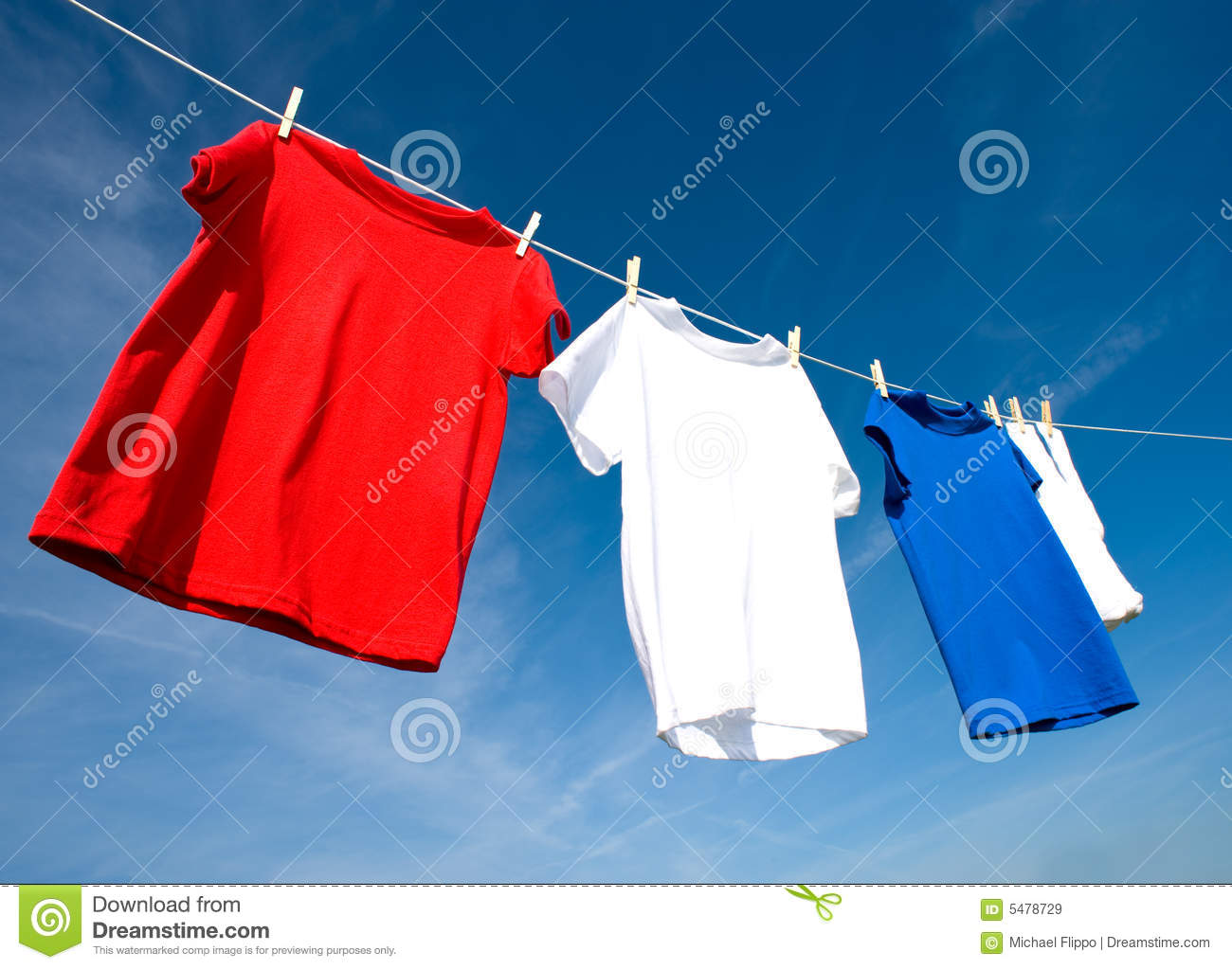 Red white and blue t shirts royalty free stock images for Red and blue t shirt