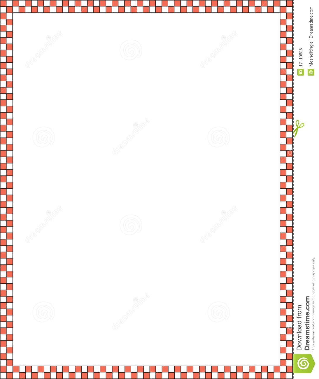 Red And White Border Royalty Free Stock Photo Image