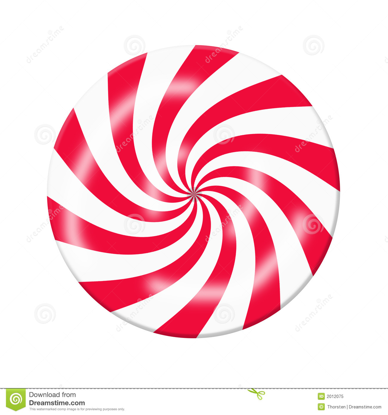 Red White Peppermint Christmas Candy, Graphic, On A White Background.
