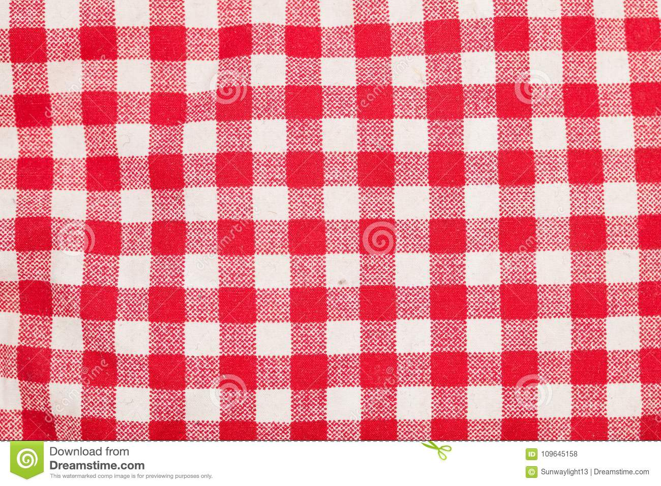 Red And White Checkered Table