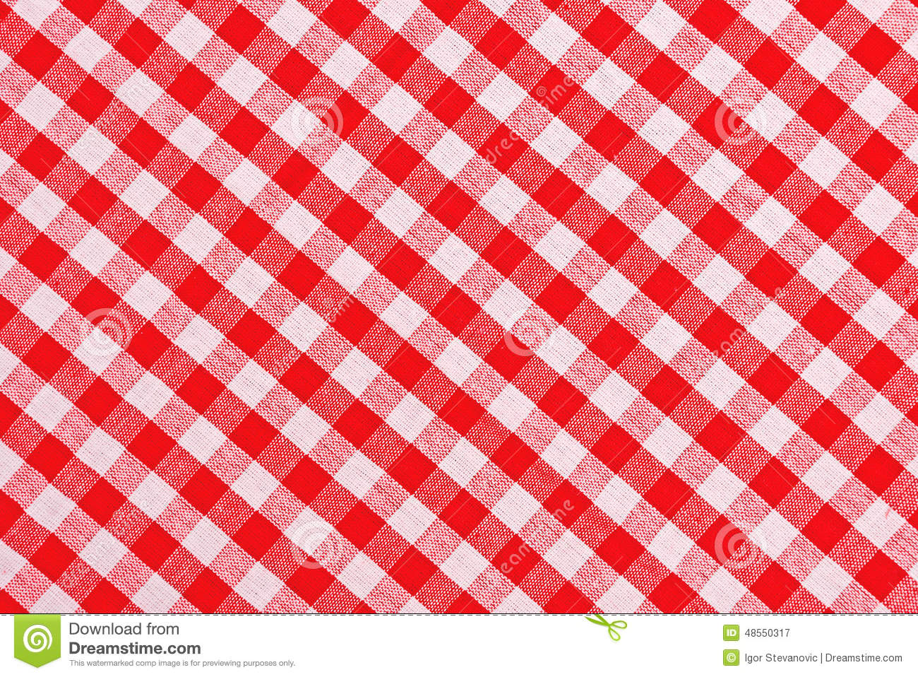 Background Checkered Pattern Red Tablecloth Texture White ...