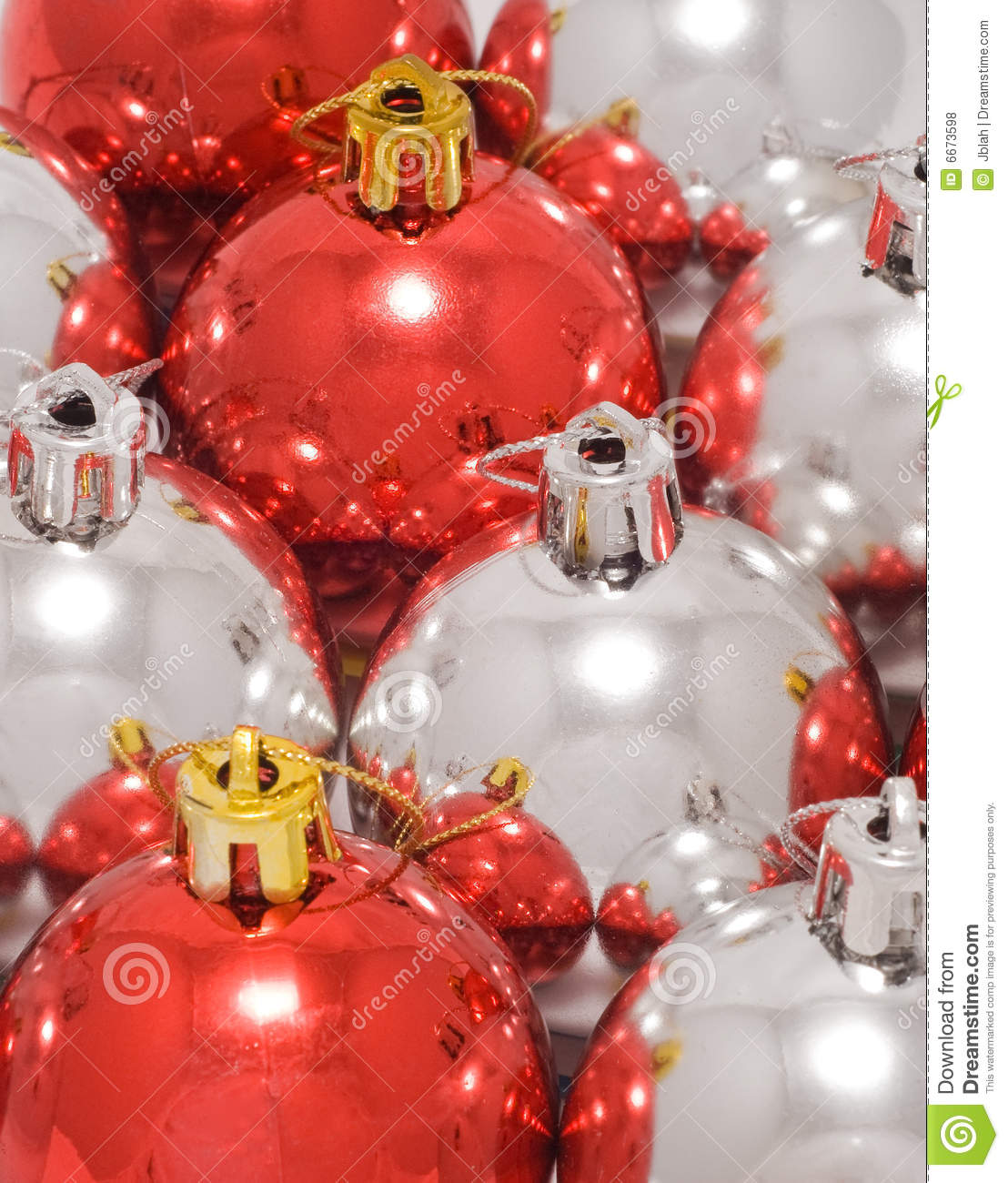 Red and white christmas baubles royalty free stock photos for Christmas red and white