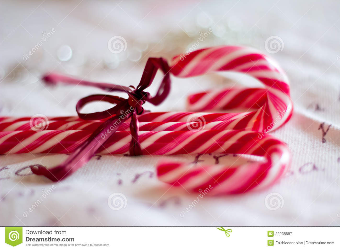 red and white christmas candy canes stock image