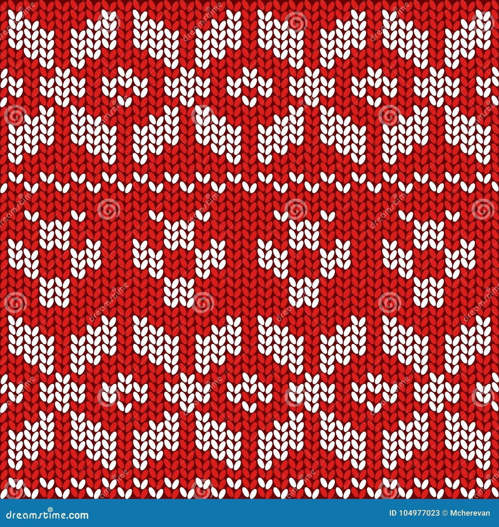47b73e3fd Red and White Christmas Festive Sweater Fairisle Design. Knitting Pattern  for Winter Designs.