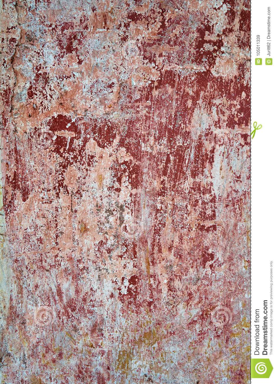 Red And White Color, Detail Of A House Facade Stock Image - Image of ...