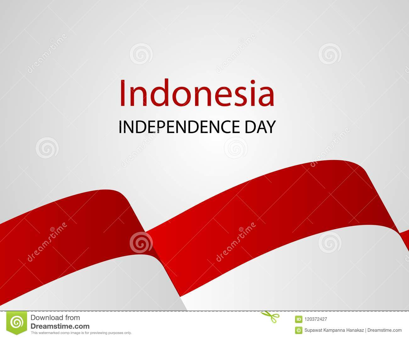 Red White, confetti concept design August Happy Independence Day greeting background. Celebration Vector illustration.