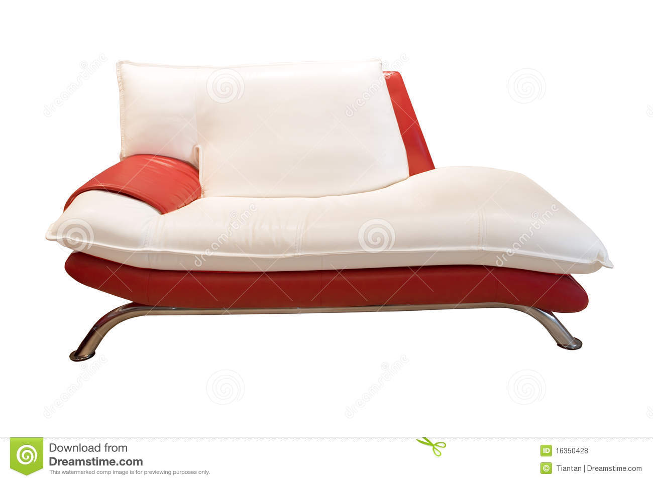 Red And White Couch Royalty Free Stock Photos Image