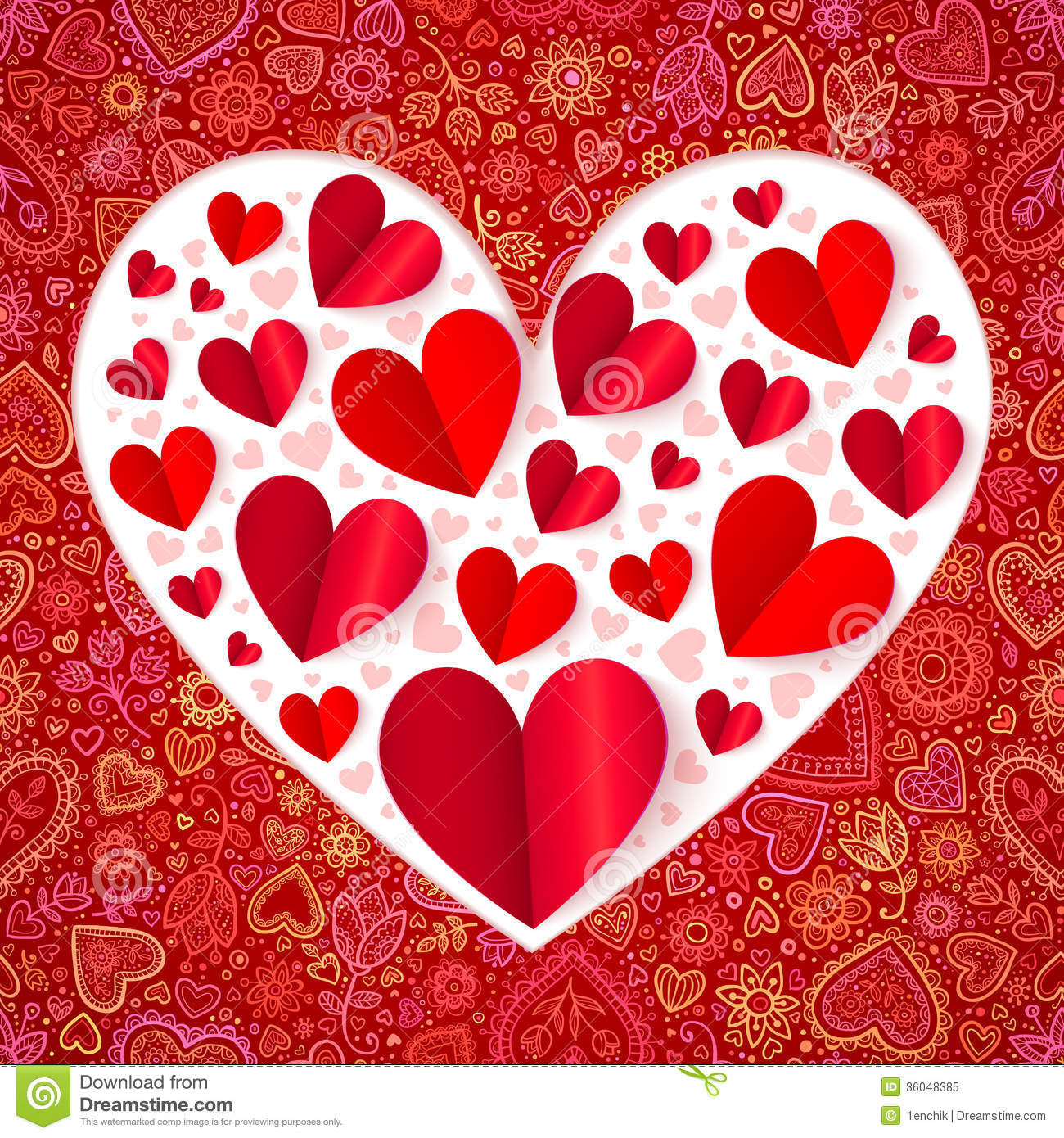 ... Cutout Paper Vector Heart Royalty Free Stock Photo - Image: 36048385