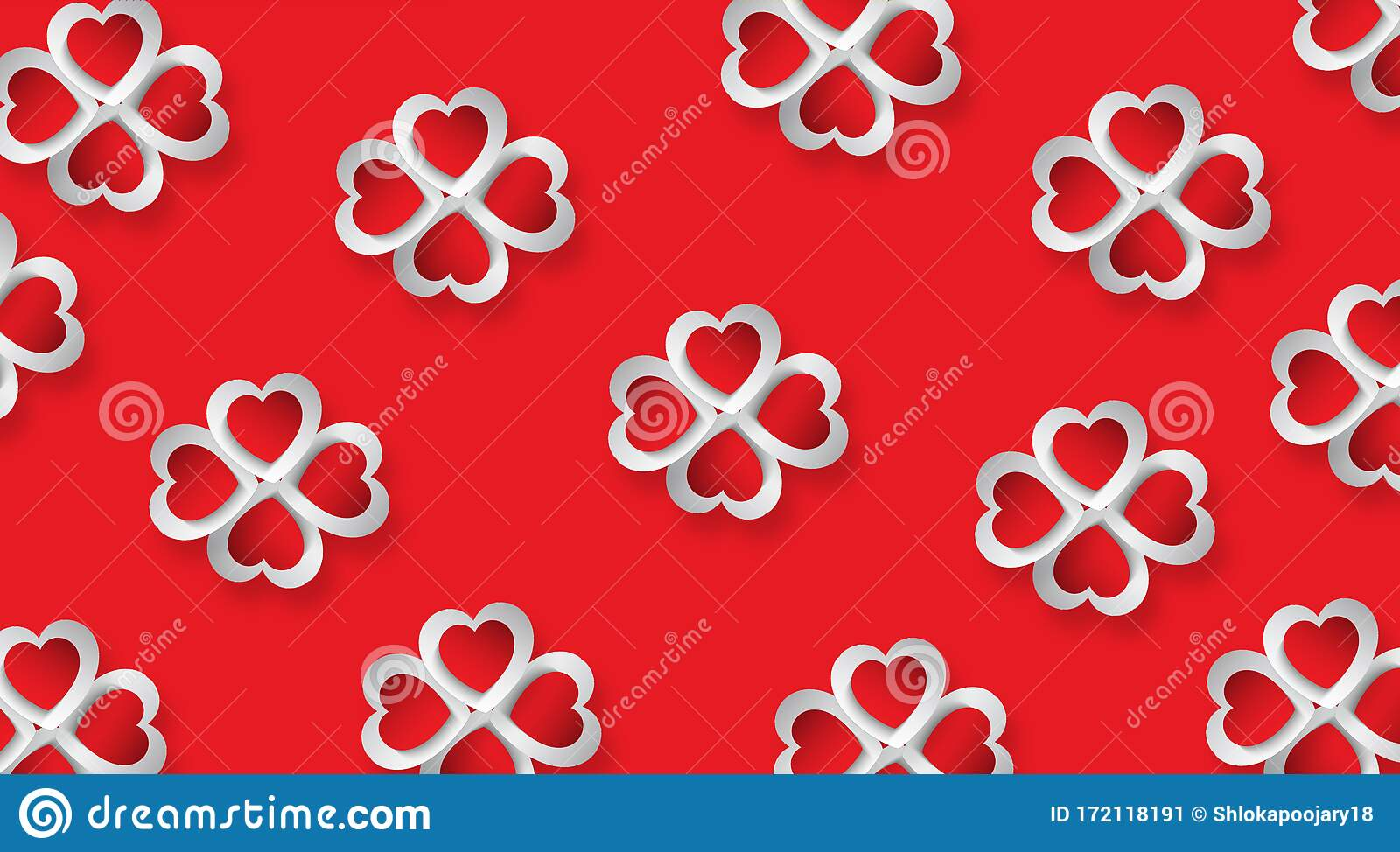 red white d hearts placed flower form red background love wallpaper cute background red white d hearts placed 172118191