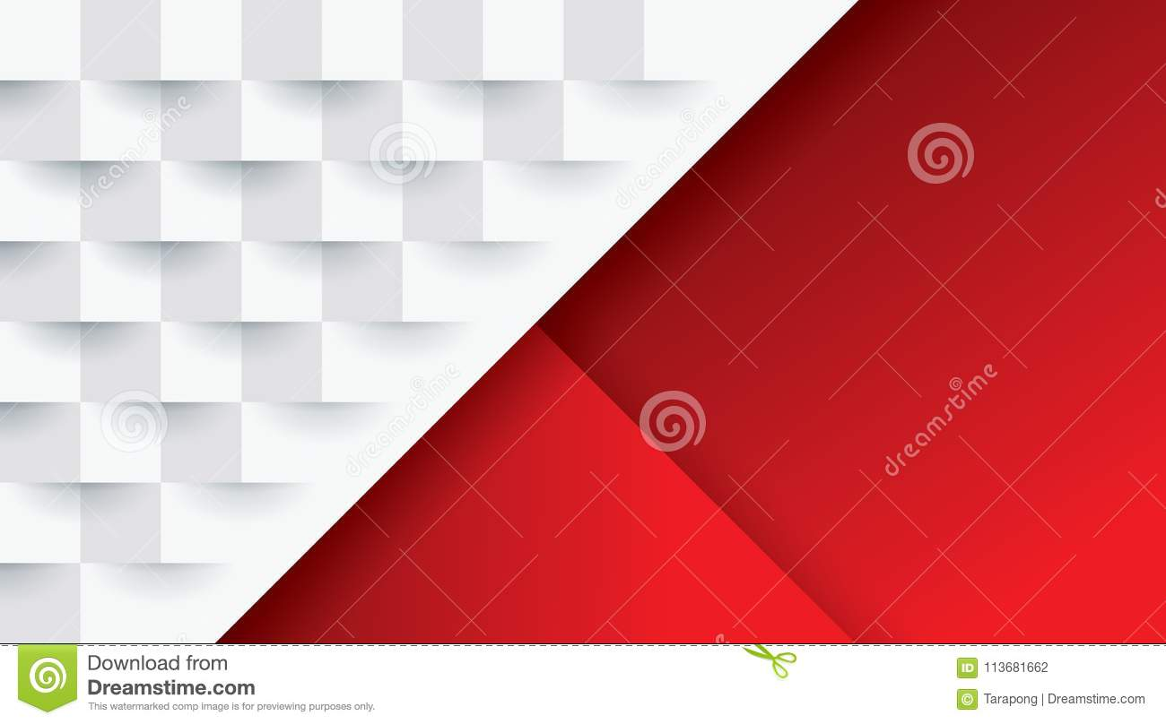 Red Book Cover Pattern : Red and white geometric pattern abstract background