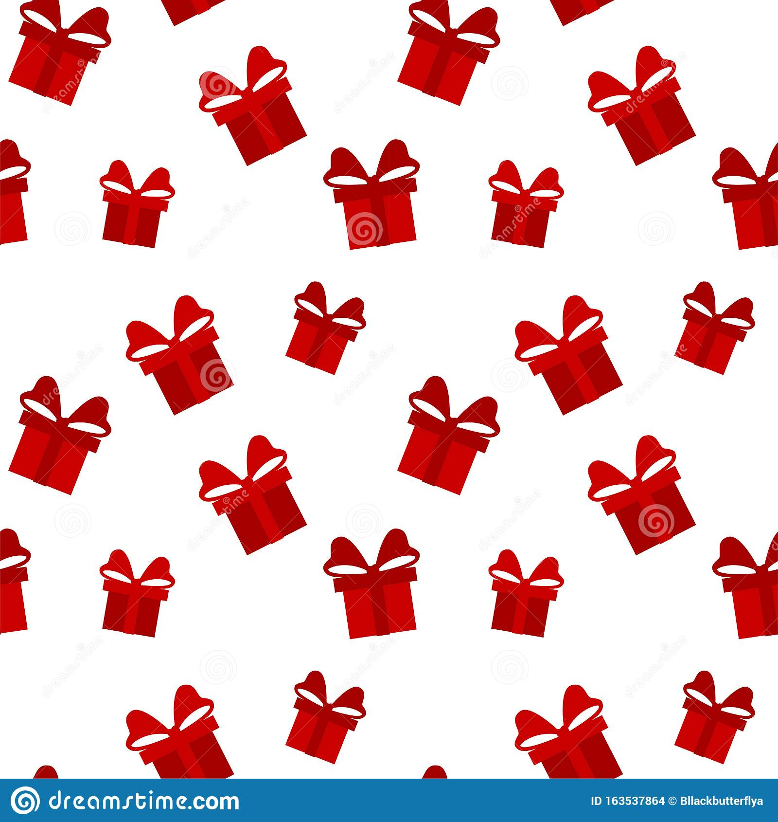 Red And White Gift Box Background Merry Christmas Pattern Seamless Endless Texture For Gift Wrap Wallpaper Web Banner Stock Illustration Illustration Of Paper Fabric 163537864
