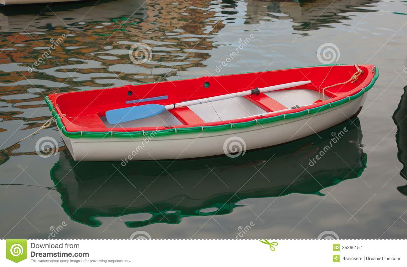 Red White And Green Fishing Boat Royalty Free Stock Photography ...