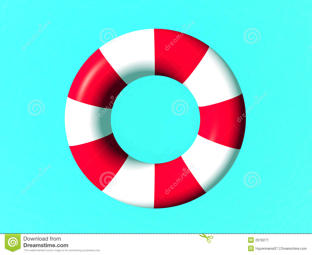 Red And White Life Guard Ring Stock Illustration