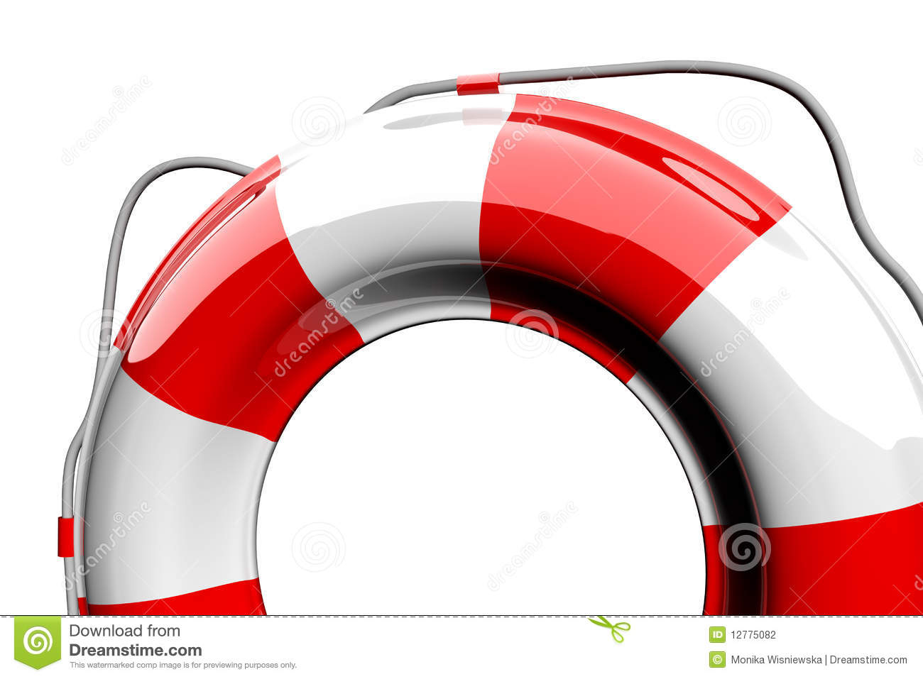 Red and white lifebelt