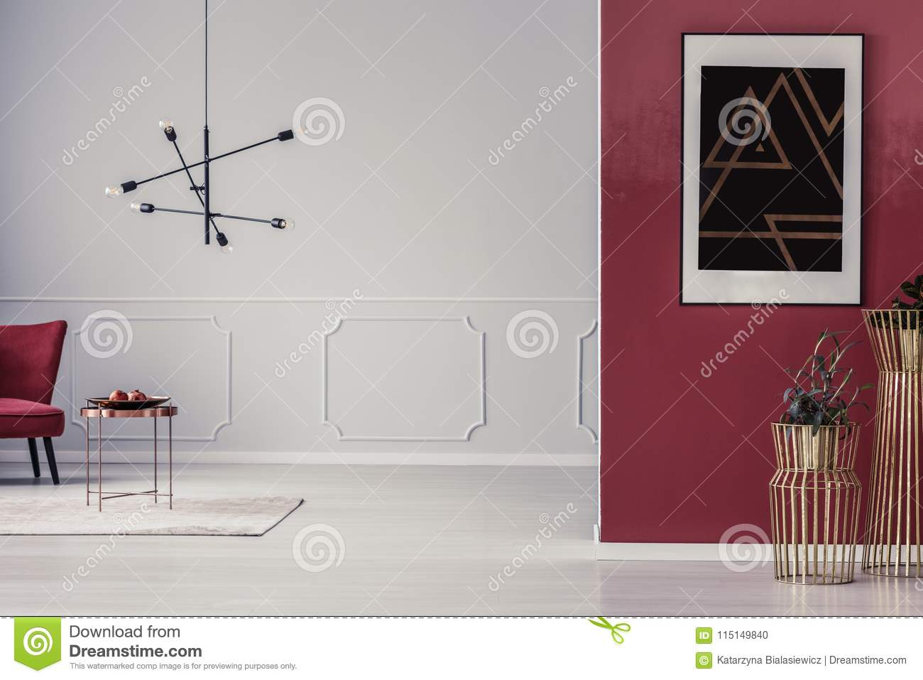Red and white living room stock photo. Image of furniture - 115149840