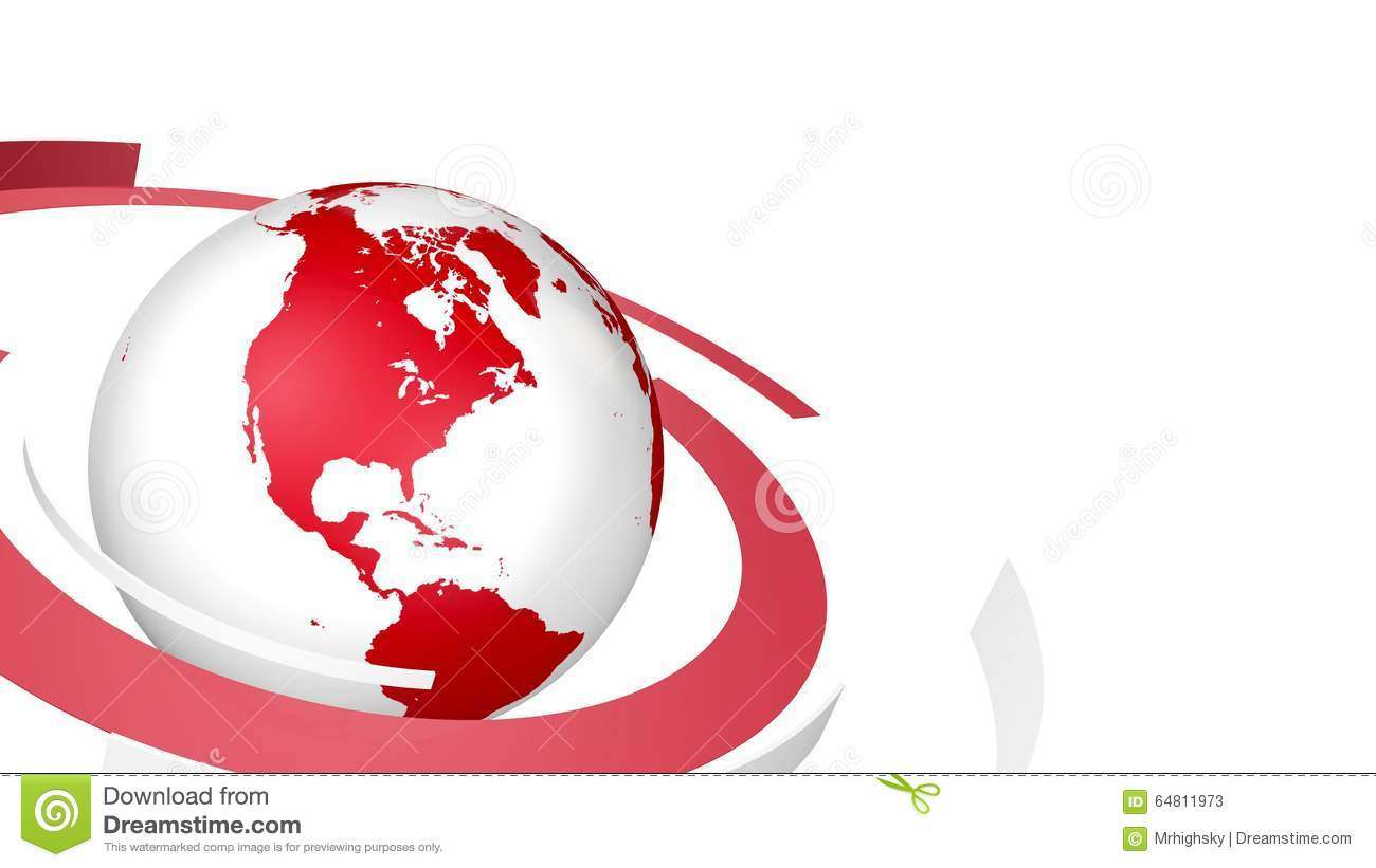 Red And White News Style Globe Background Loop Stock Video