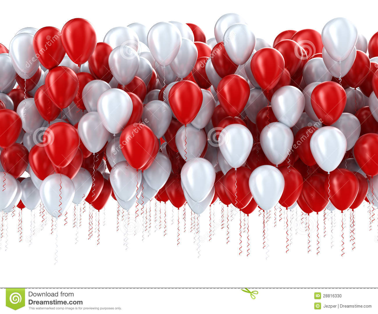 red and white party balloons stock illustration illustration of