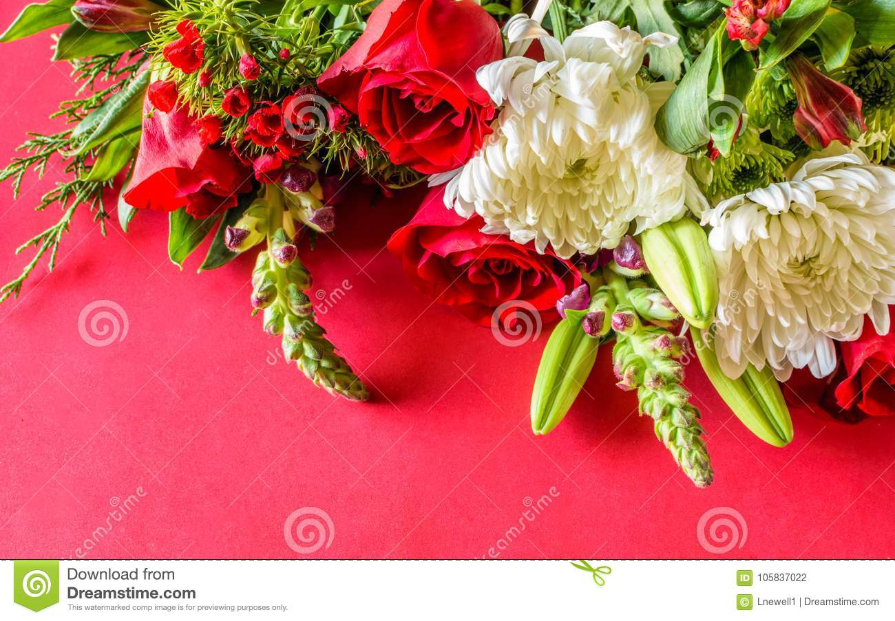 Redwhite and purple flower bouquet stock photo image of color download redwhite and purple flower bouquet stock photo image of color izmirmasajfo