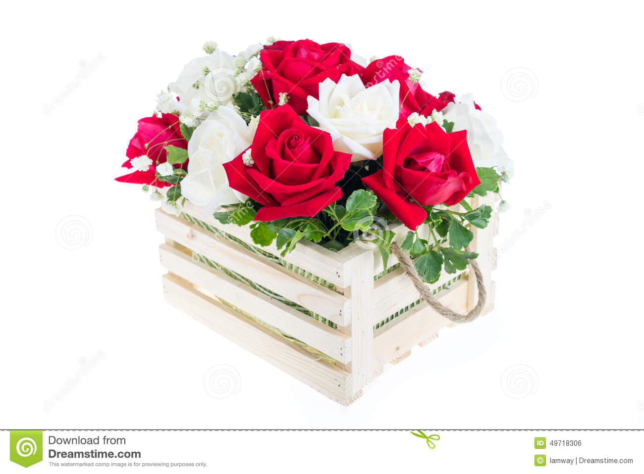 Red and white rose in a wooden basket with beautiful ribbon gif red and white rose in a wooden basket with beautiful ribbon gif izmirmasajfo