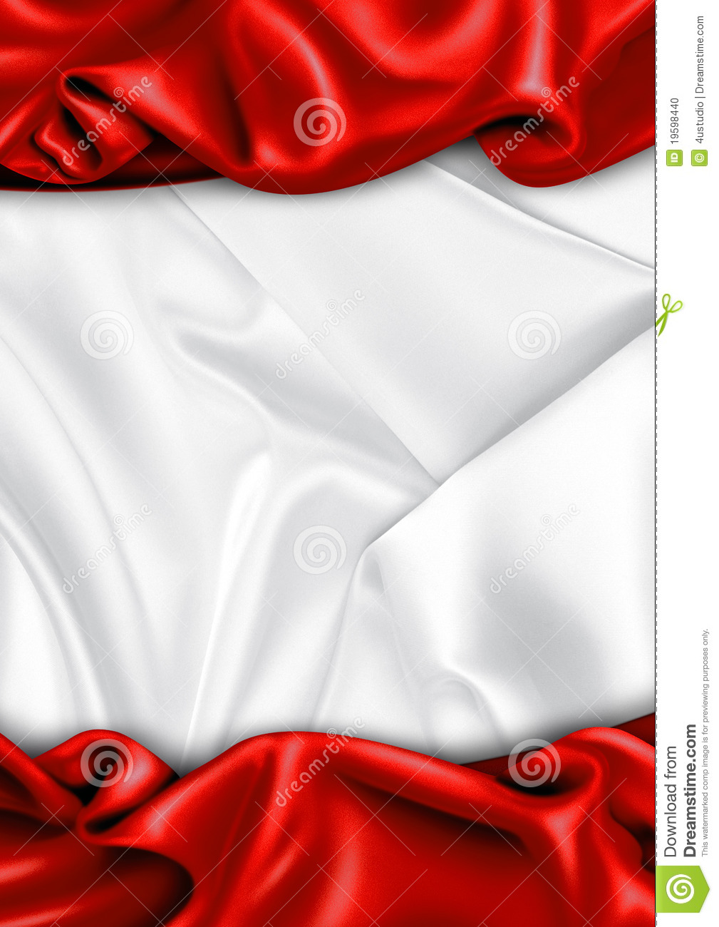 Red And White Satin Fa...