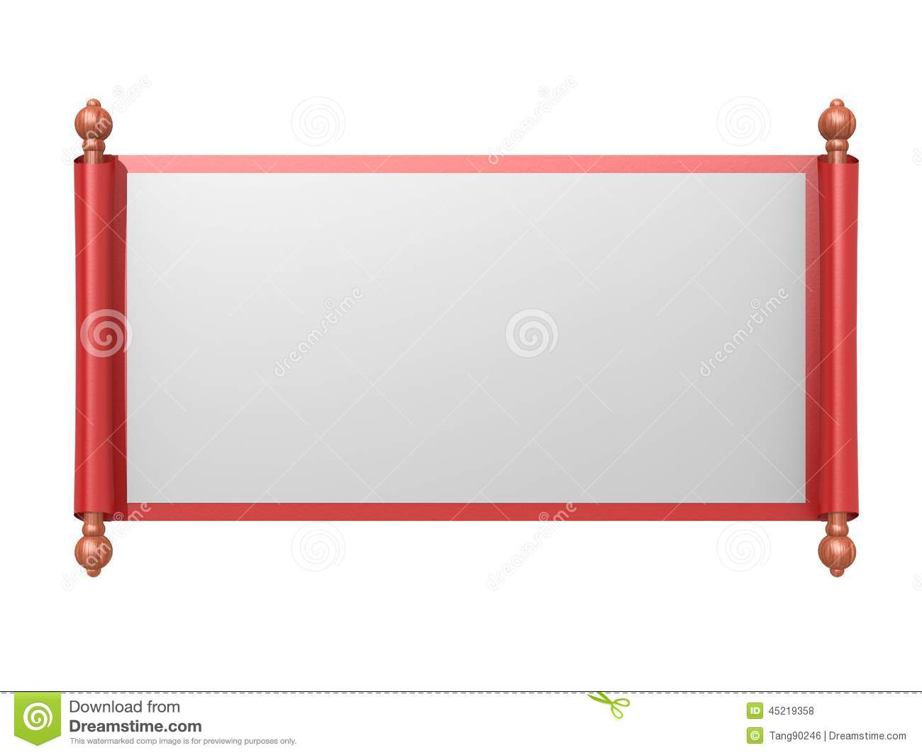 Stock Illustration Red White Scroll Paper Image Hi Res Rendered Artwork Could Be Used Any Graphic Design Image45219358 on Latest Parchment Writing Paper