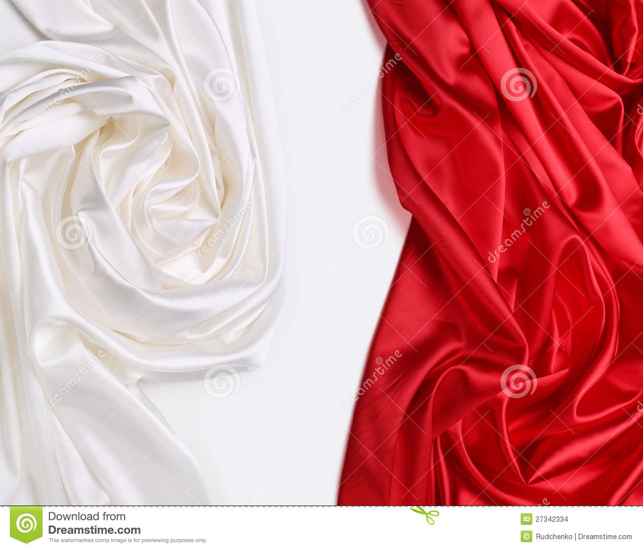 Red And White Silk Fabric Stock Images - Image: 27342334