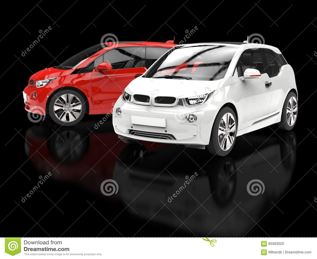 red and white small cars on black background stock illustration image 85563020. Black Bedroom Furniture Sets. Home Design Ideas