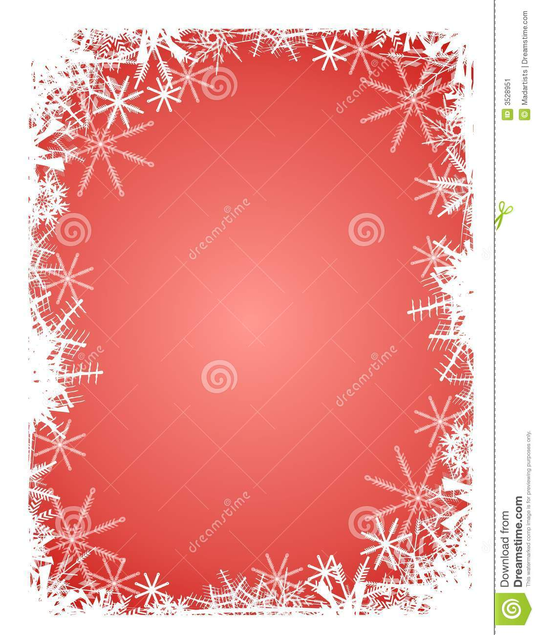Red White Snowflake Background Stock Image - Image: 3528951