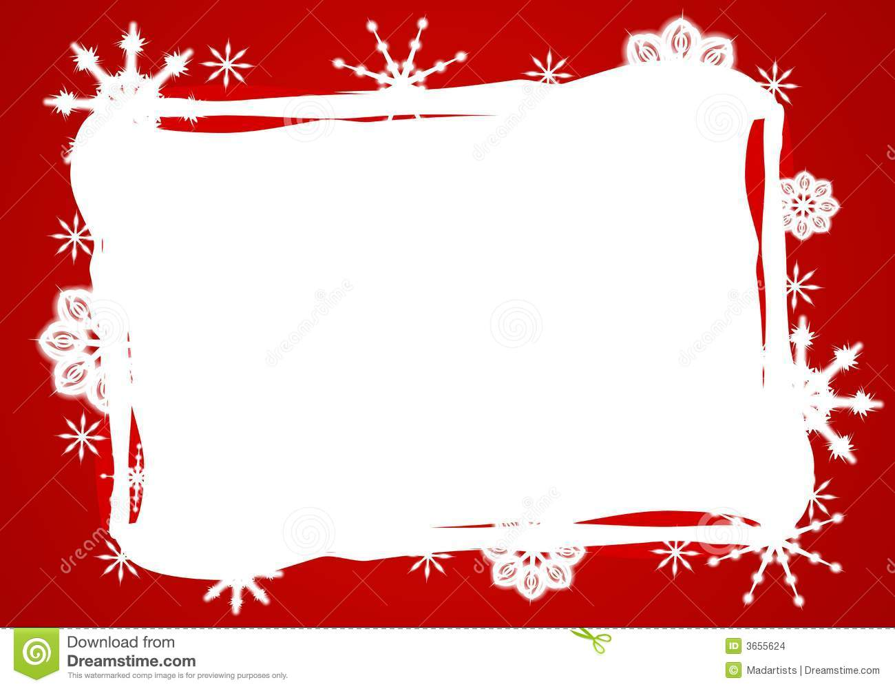 ... featuring a red and white snowflake frame, background or border