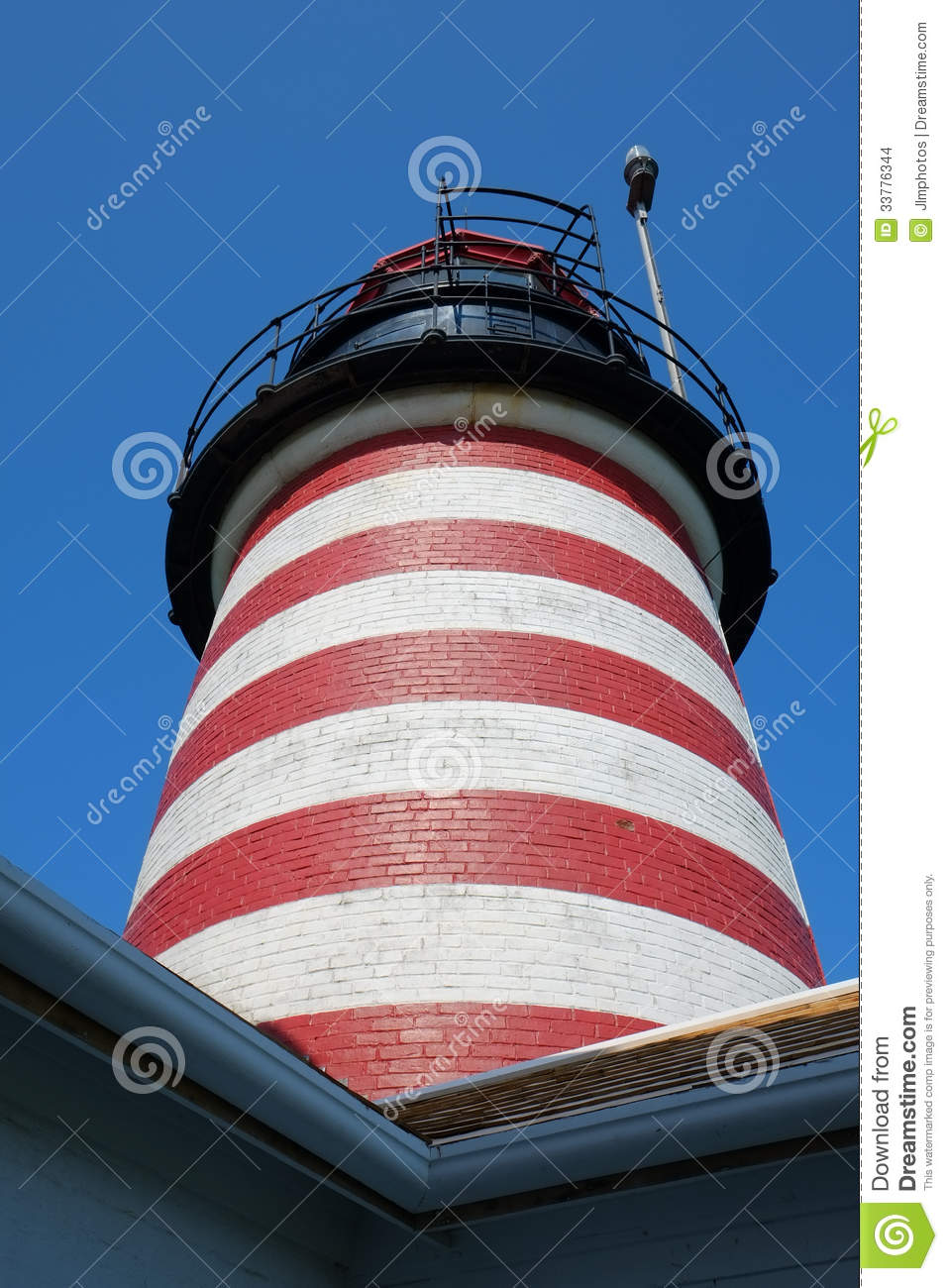 Red And White Striped Lighthouse Tower Stock Photo Image