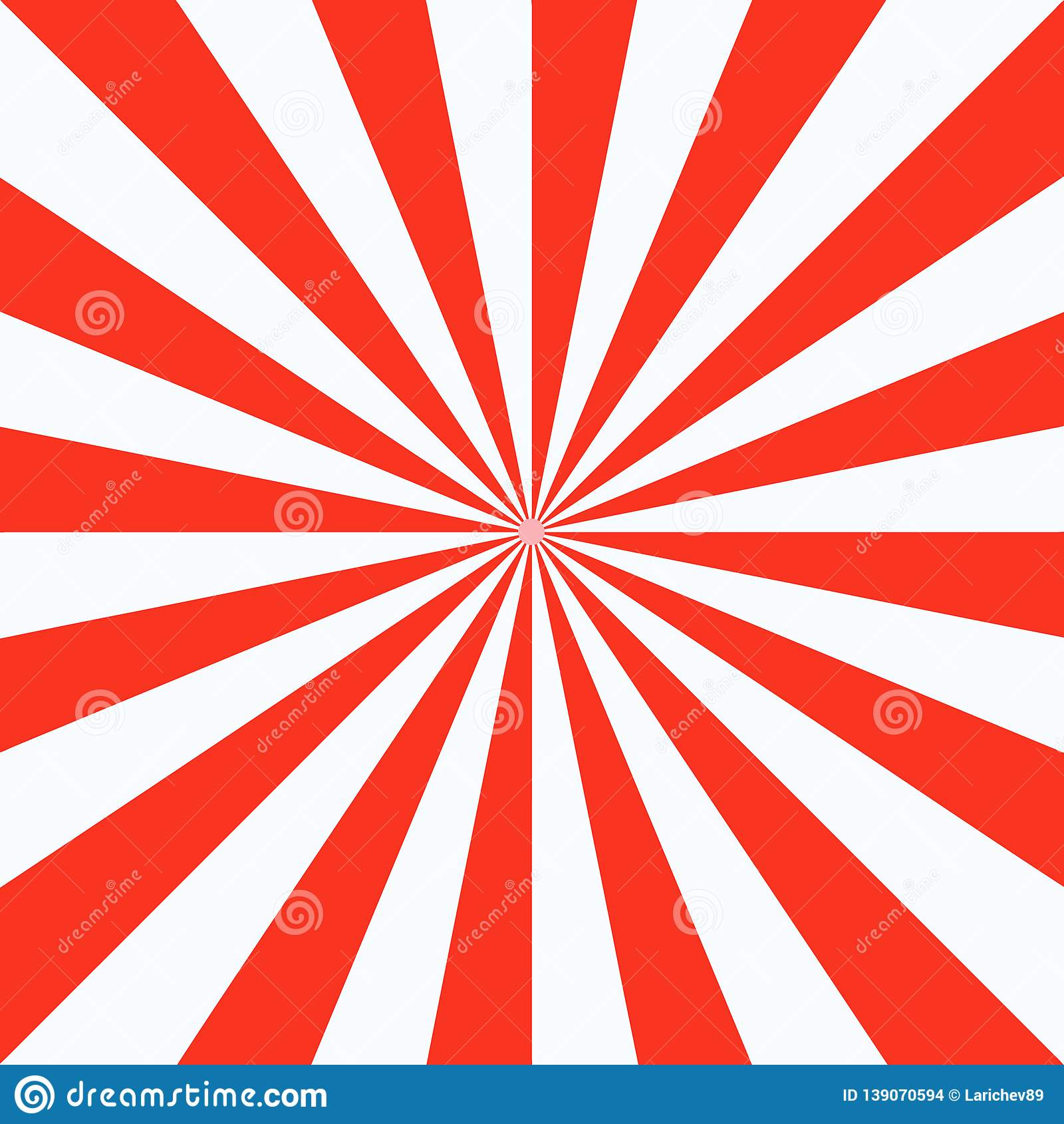 Red White Sunbeam Background Red Striped Abstract Wallpaper Stock