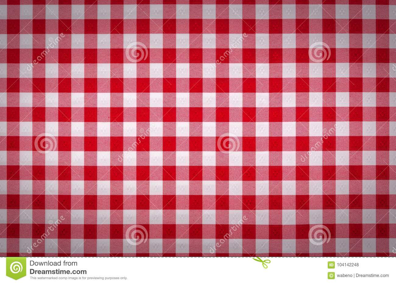 Red And White Tablecloth Italian Style Texture Wallpaper Stock Photo