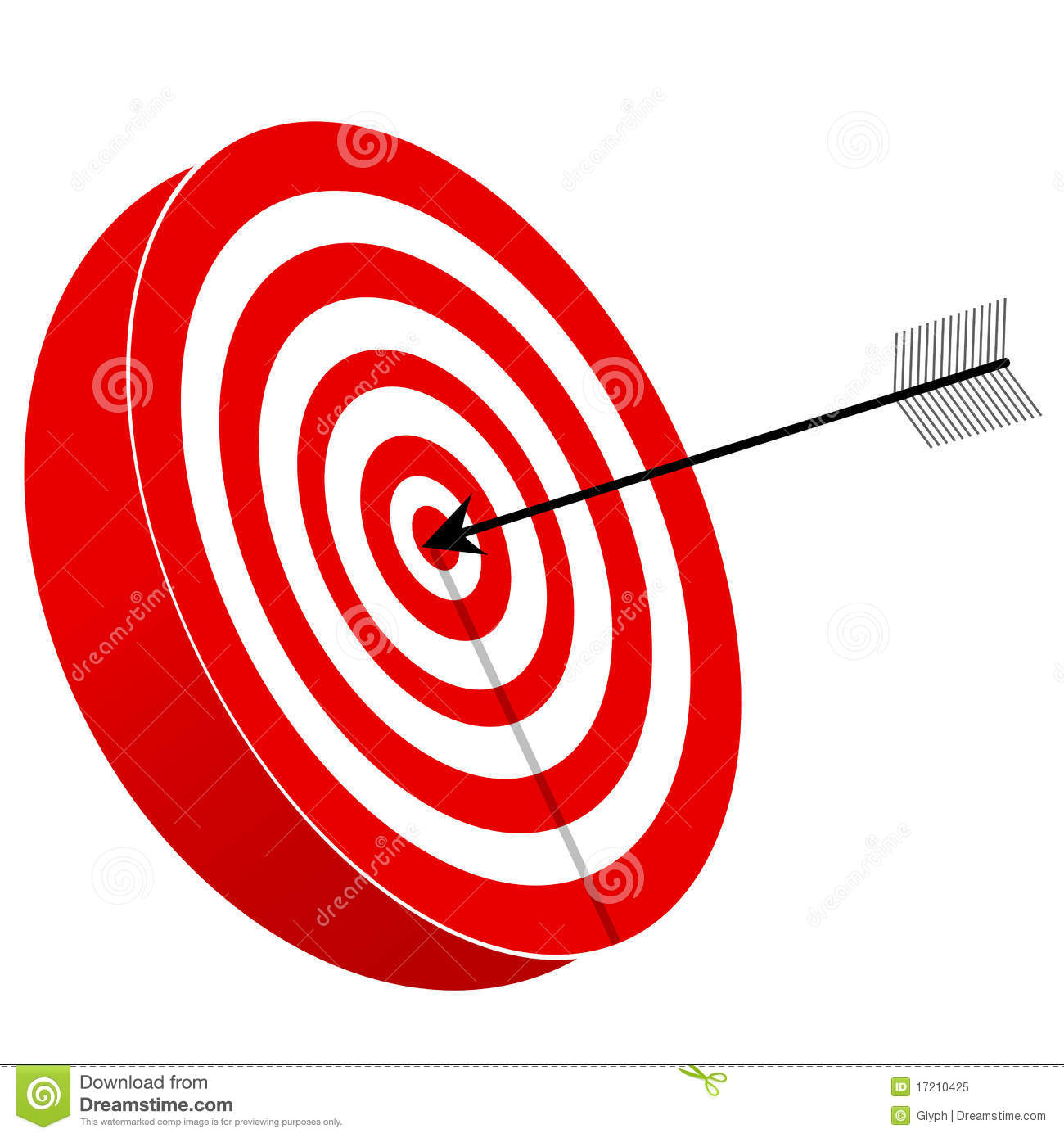 Red And White Target Board With Arrow Royalty Free Stock Photo - Image ...