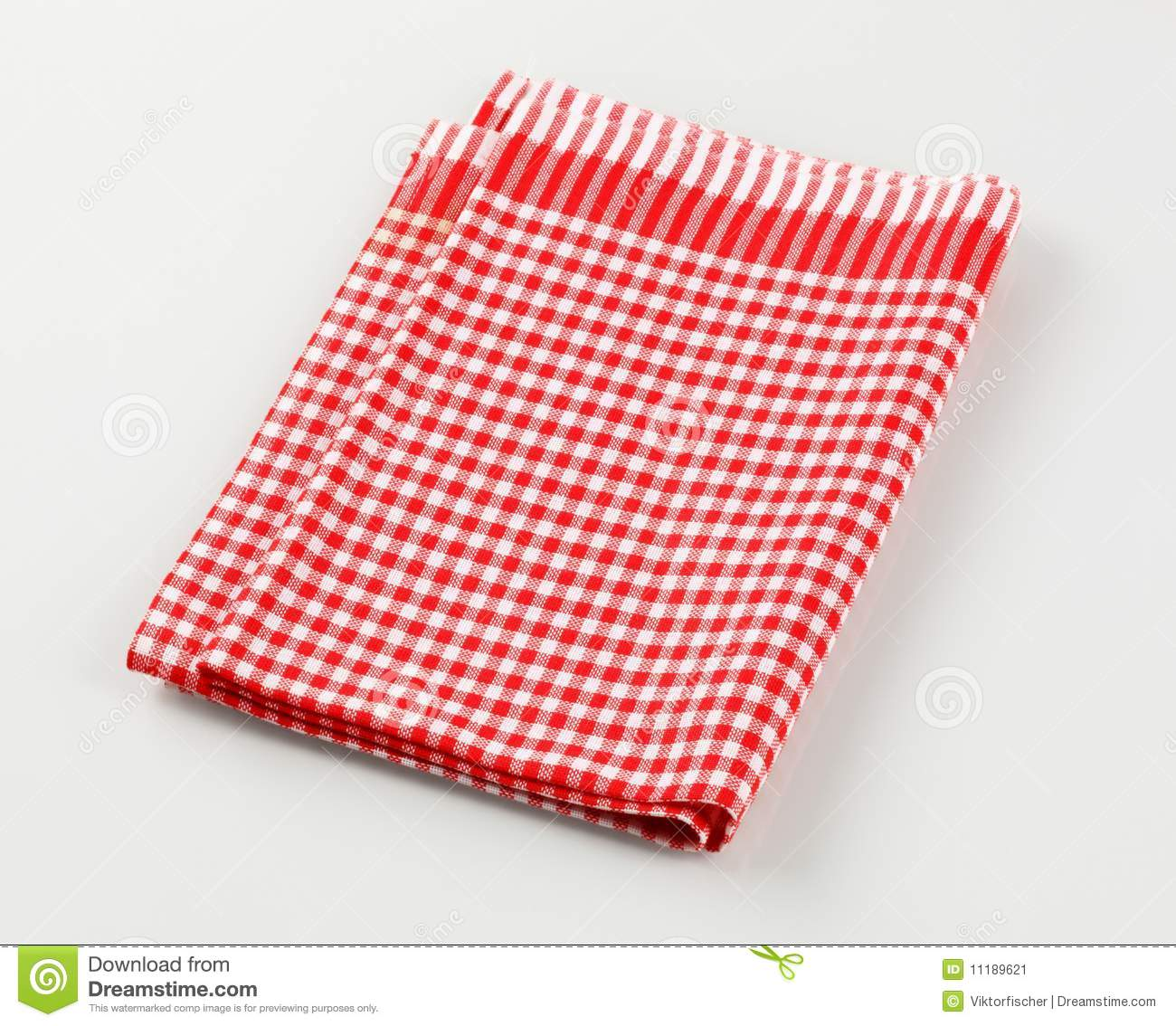 Royalty Free Stock Photo. Download Red And White Tea Towel ...