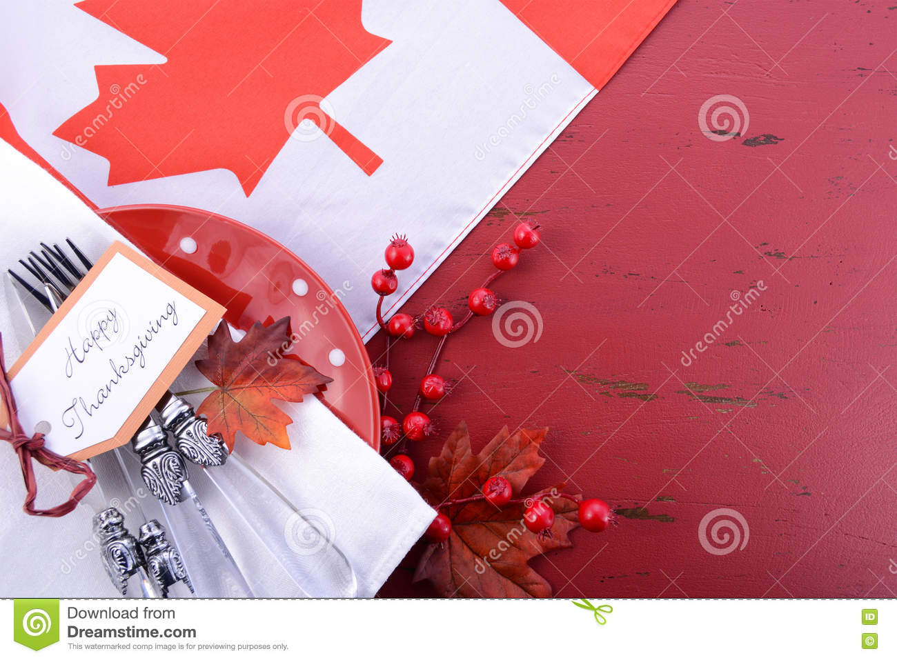 Red And White Theme Thanksgiving Background Stock Image