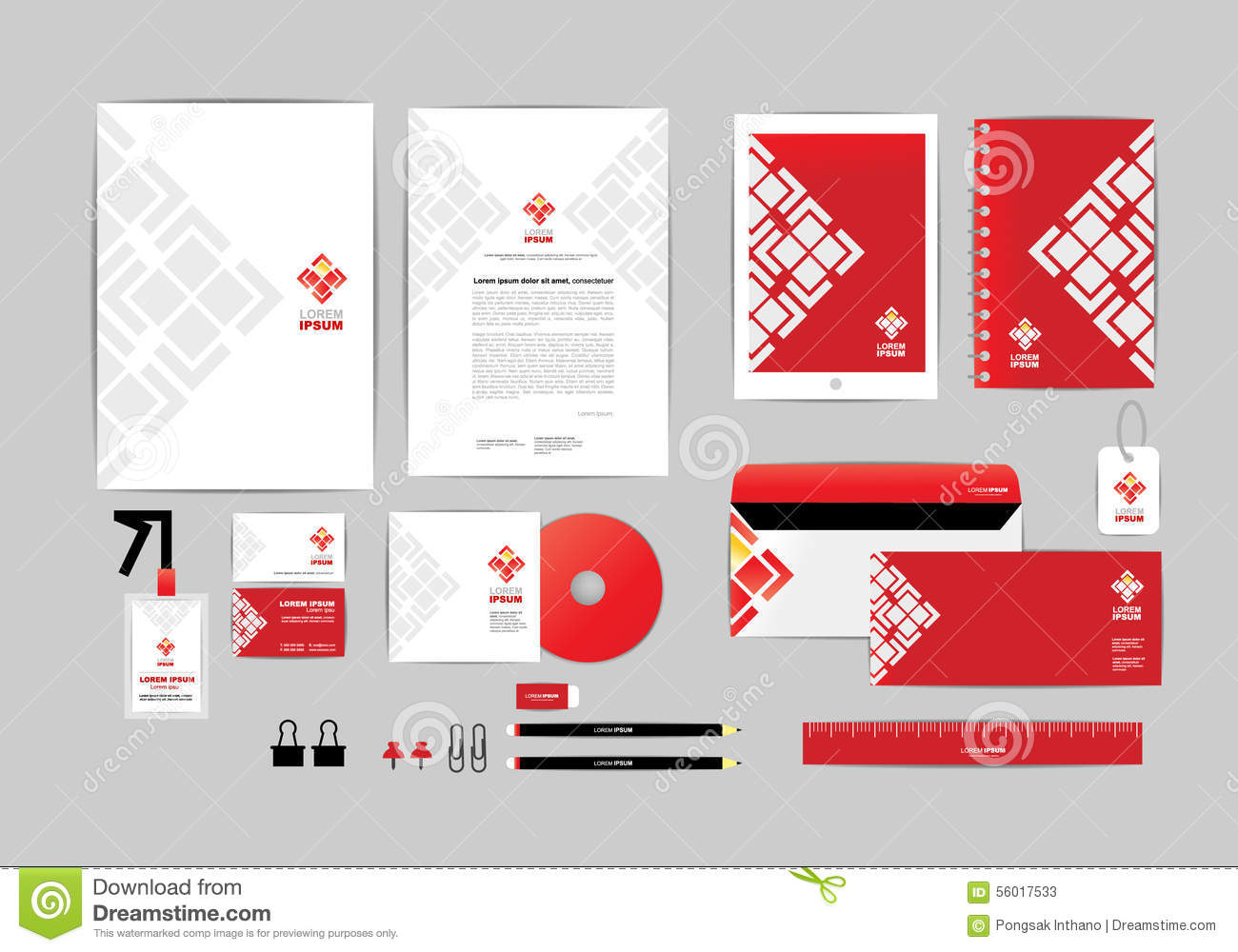 Red and white with triangle corporate identity template for your red and white with triangle corporate identity template for your business g cheaphphosting Choice Image