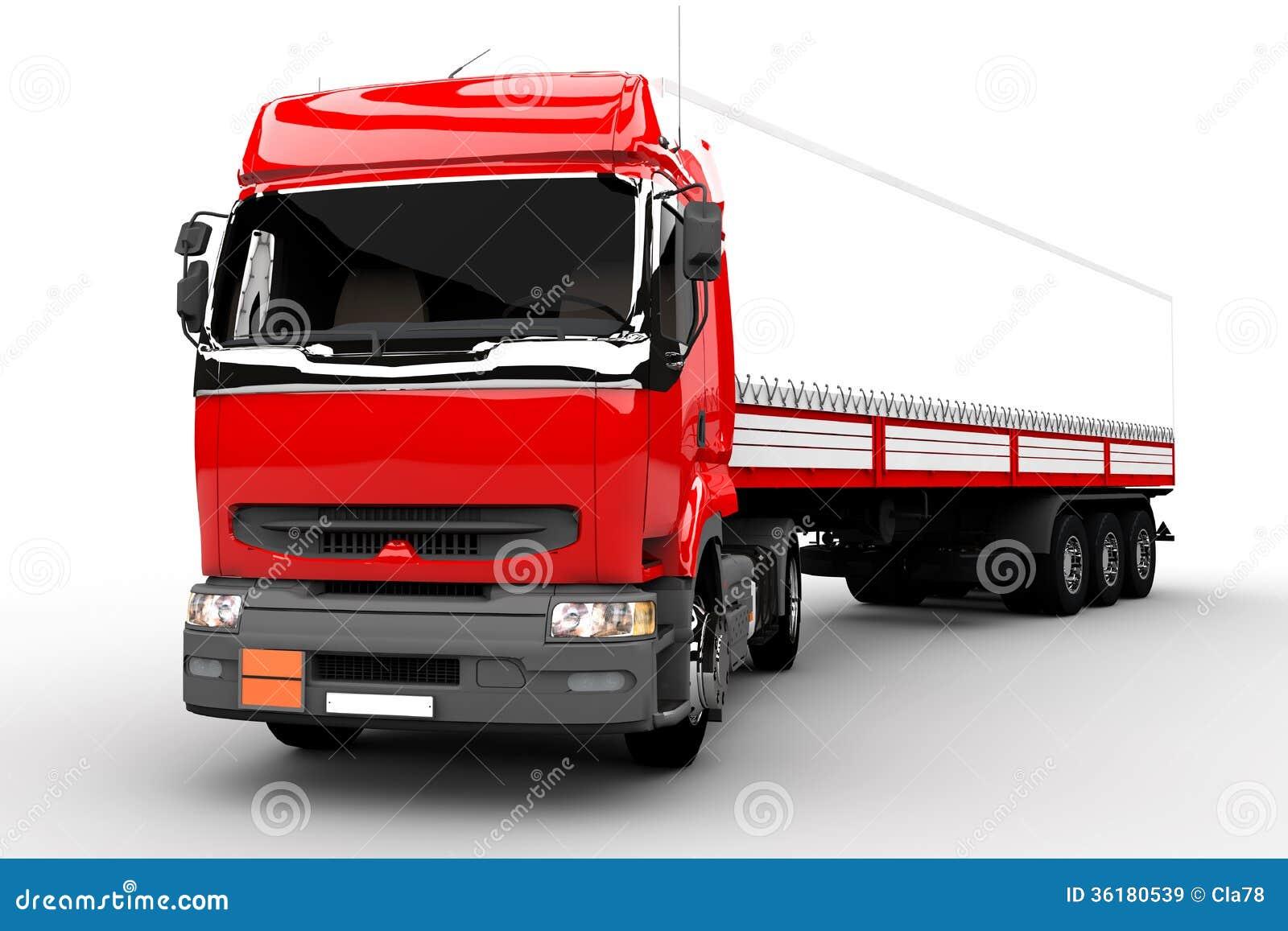 Transport Truck Stock Illustration. Illustration Of