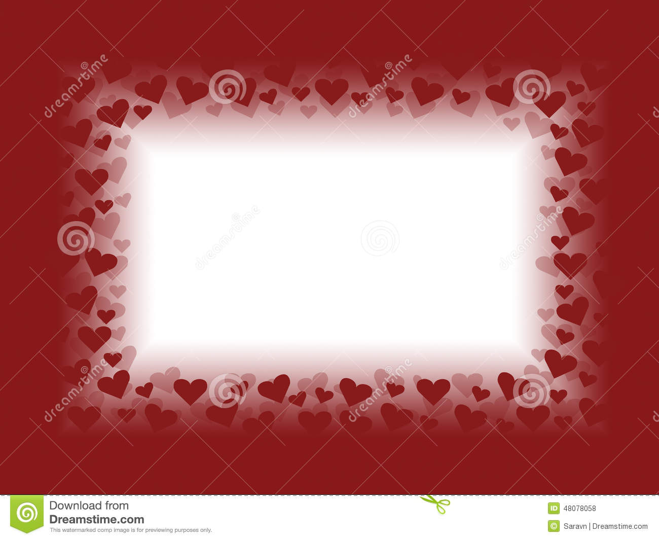 Red And White Valentines Day Card Background Frame Illustration