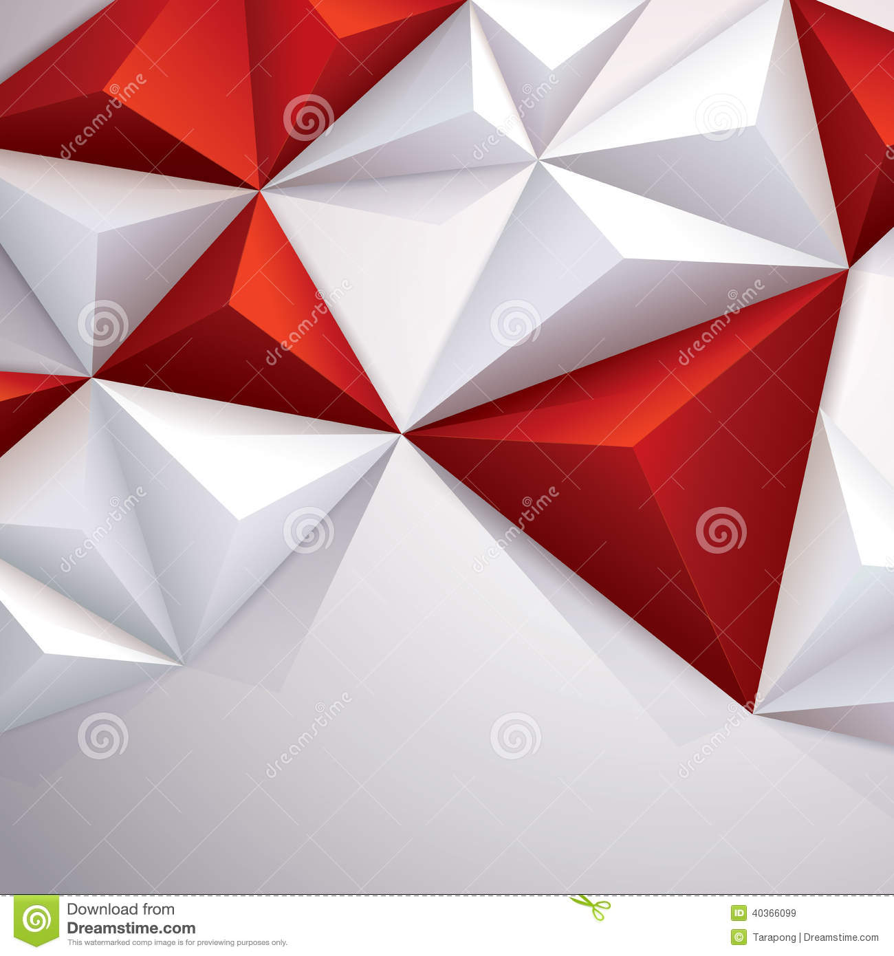 Red And White Vector Geometric Background. Stock Vector ...