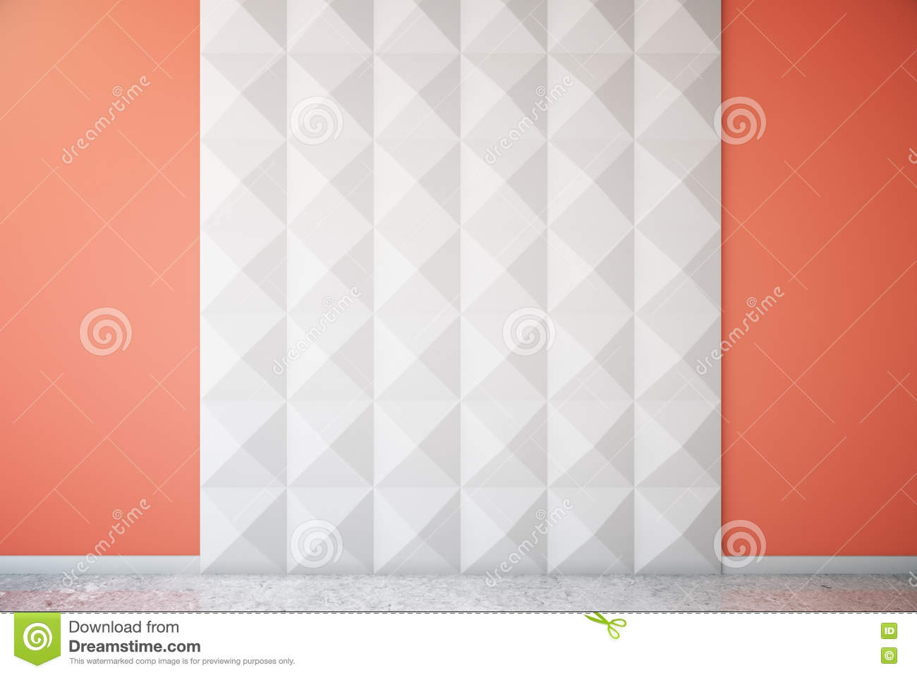 Red And White Wall Stock Illustration Image 72857424