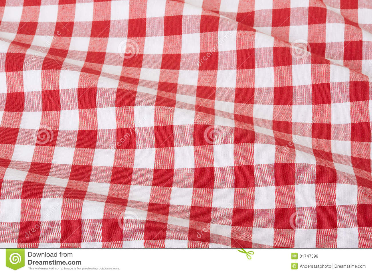 Red And White Wavy Tablecloth Royalty Free Stock Image