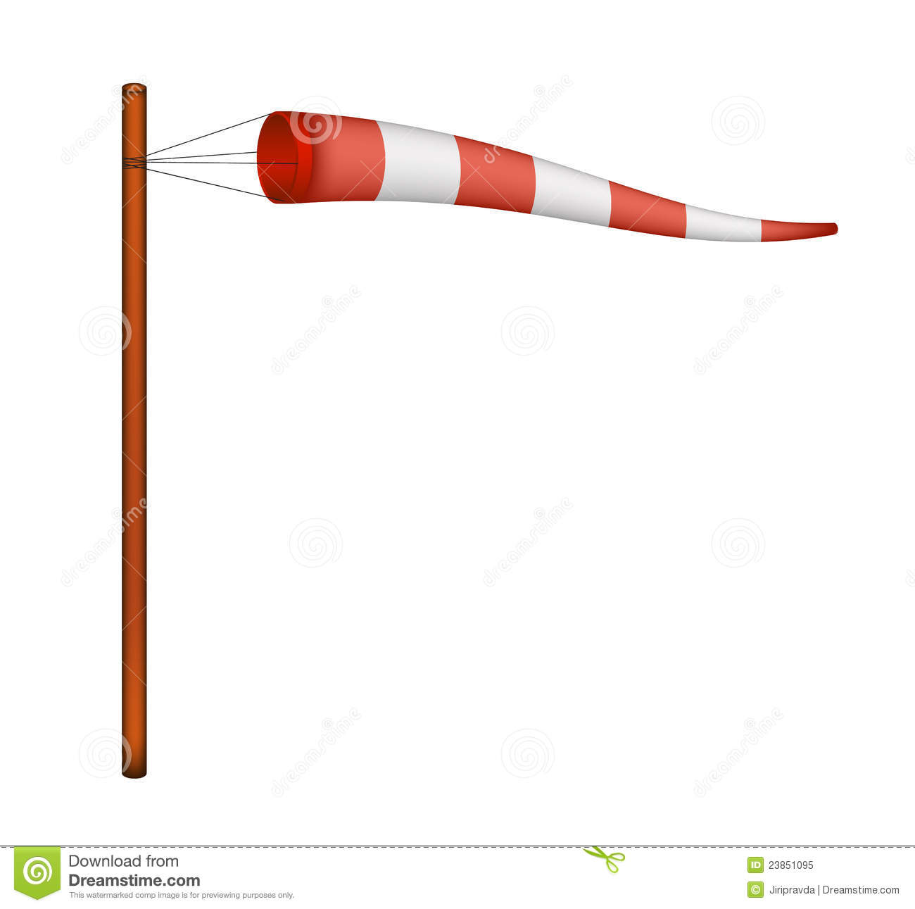 Red And White Windsock Royalty Free Stock Photo Image