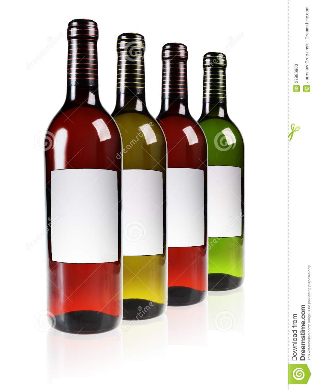 row of red and white wine bottles isolated on white background.: dreamstime.com/stock-photo-red-white-wine-image27886800